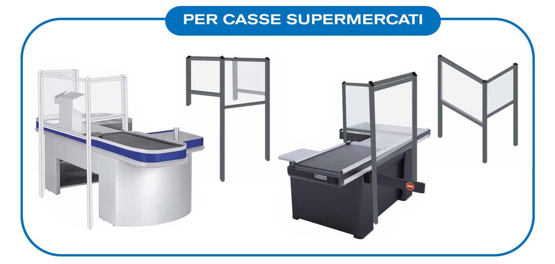 Barriere protettive da coronavirus da banco ideale per supermercati e attività di vendita